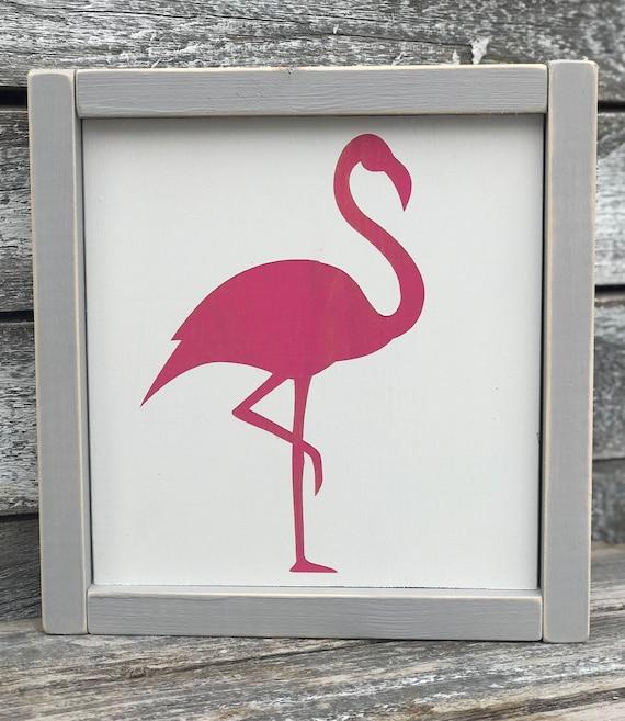 Flamingo Sign | Summer Sign | Pink Flamingo Sign | Framed Summer Sign | Summertime Sign | Farmhouse Summer | Pink Flamingo