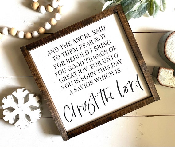 Farmhouse Sign | Christmas Sign | Christ The Lord | Farmhouse Christmas | Christmas Decor | Christ The Lord Sign | Holiday Decor