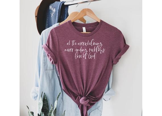Reckless Love Shirt | Women's Tshirt | Women's Graphic T-Shirt | Women's Tee | Religious Women's Shirt | Graphic T-Shirt For Women