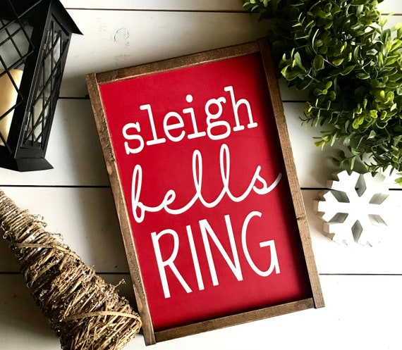 Christmas Sign | Sleigh Bells Ring | Farmhouse Sign | Farmhouse Christmas | Popular Christmas Signs | Christmas Decor | Christmas Farmhouse