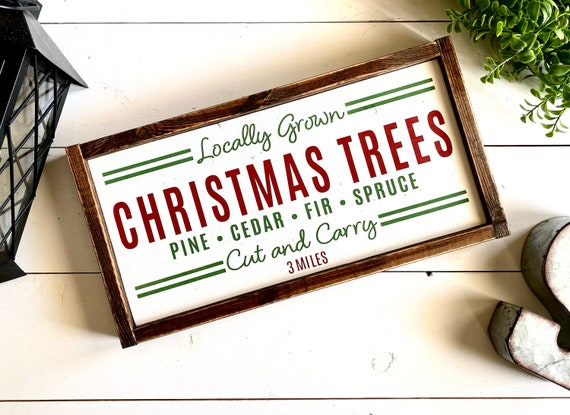 Farmhouse Sign | Christmas Tree Sign | Christmas Sign | Fresh Cut Christmas Trees | Holiday Signs | Christmas Decor | Fixer Upper