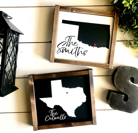 Farmhouse Sign | Custom State Sign | Personalized State Sign | Family Name Sign | Family Name State Sign | Popular Signs | Fixer Upper