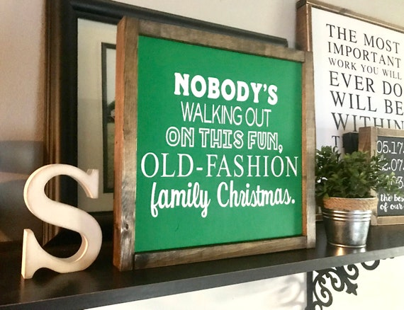 Farmhouse Sign | Christmas Sign | Christmas Vacation Sign | Fun Old-Fashioned Christmas | Funny Christmas Sign | Farmhouse Christmas