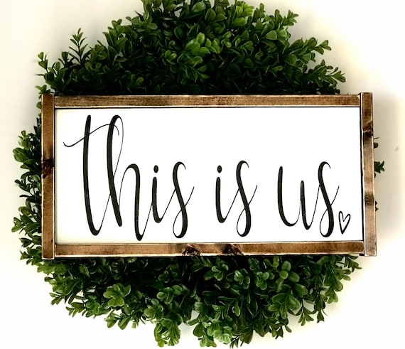 This Is Us | This Is Us Sign | This Is Us Farmhouse Sign | Framed This Is Us Sign | Farmhouse Sign | Wood This Is Us Sign | Fixer Upper