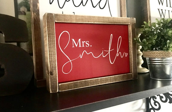 Back To School Teacher Sign | Personalized Teacher Name Sign | Custom Teacher Sign | Farmhouse Sign | Teacher Gift | Fixer Upper