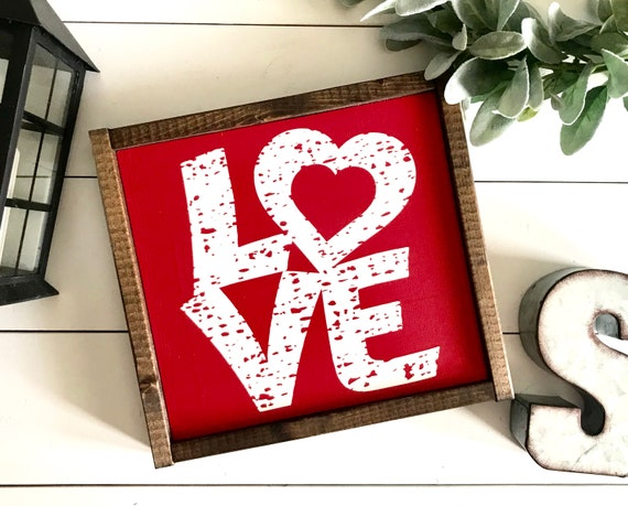 Farmhouse Sign | LOVE Sign | Valentine's Day Sign | Valentine's Decor | Fixer Upper | Modern Farmhouse | Valentine's Day | Valentine's Sign