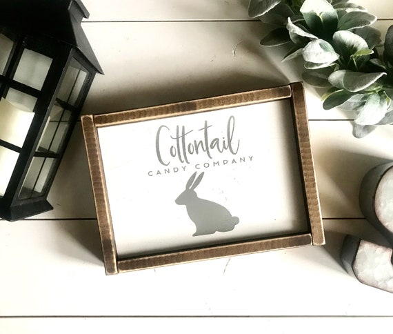 Farmhouse Sign | Easter Sign | Cottontail Candy Company | Easter Decor | Easter Bunny | Spring Sign | Fixer Upper | Modern Farmhouse | Bunny