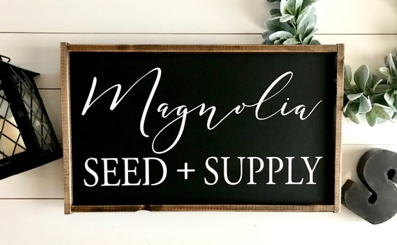 Farmhouse Sign | Magnolia Seed + Supply | Magnolia Sign | Fixer Upper | Joanna Gaines | Farmhouse Decor | Modern Farmhouse | Magnolia