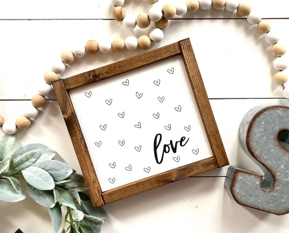 Farmhouse Sign | Love Sign | Heart Sign | Valentine's Day Sign | Romantic Sign | Valentine's Day Gifts | Valentine's Day Presents