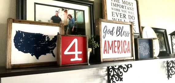 Farmhouse SIGN BUNDLE | 4th Of July Sign | Patriotic Sign | Independence Day | Summer Sign | Fixer Upper | Modern Farmhouse