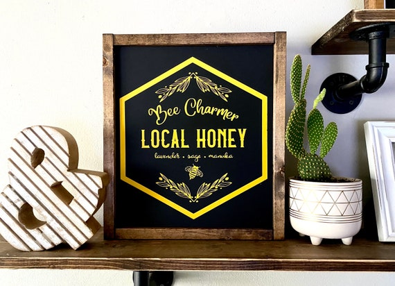 Farmhouse Sign | Honey Sign | Bee Sign | Local Honey Sign | Honey Bee Decor | Spring Sign | Spring Decor | Popular Bee Signs | Fixer Upper