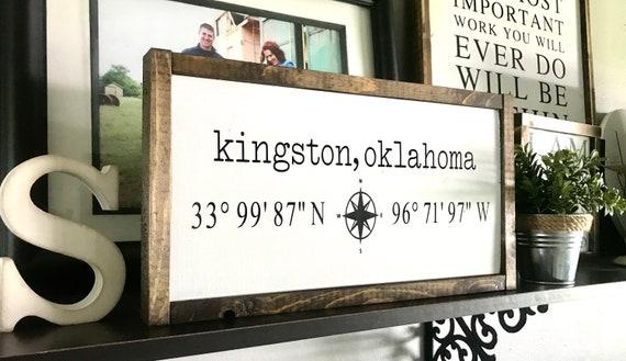 Coordinates Sign   Farmhouse Sign   Latitude Longitude Sign   Personalized Sign   GPS Sign   Fixer Upper   Modern Farmhouse   Custom Sign