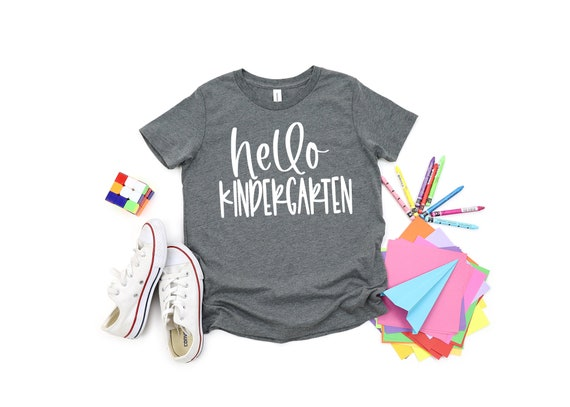 Back To School T-shirts | Kid's T-Shirt | First Day Of School Shirt | Hello Kindergarten Shirt | Hello Pre-K Shirt | Back To School Shirts
