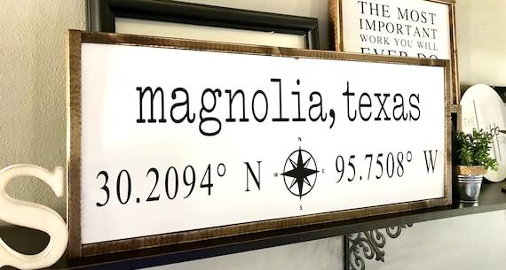 Coordinates Sign | Farmhouse Sign | Latitude Longitude Sign | Personalized Sign | GPS Sign | Fixer Upper | Modern Farmhouse | Custom Sign