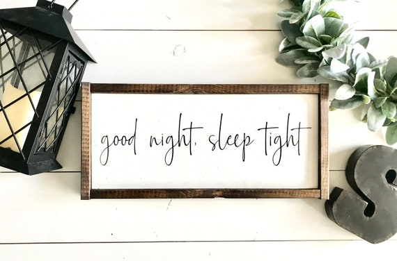 Farmhouse Sign | Good Night Sleep Tight | Kid's Bedroom Sign | Nursery Decor | Children's Room Sign | Fixer Upper | Modern Farmhouse