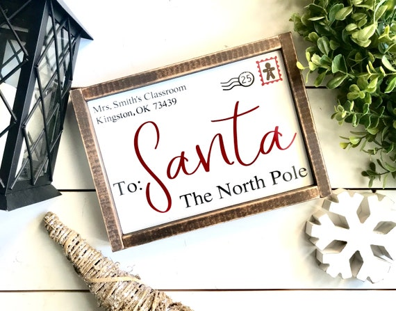 Christmas Sign | Letter To Santa | Letter To Santa Sign | Farmhouse Christmas | Personalized Christmas Sign | Fixer Upper | Santa Sign