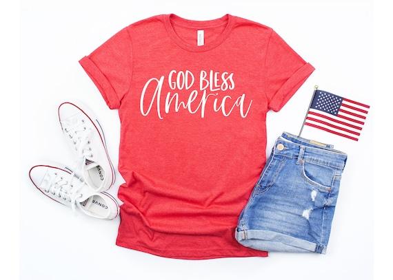 God Bless America | Fourth of July Shirt | Women's Shirt | God Bless America Shirt | Summer Shirt | Independence Day Shirt | Women's Tee