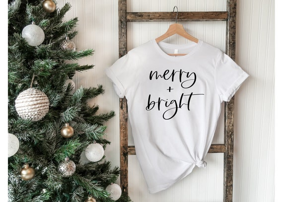 Merry And Bright | Christmas Shirt | Women's Christmas Shirt | Holiday Shirt | Merry And Bright Shirt | Christmas Tee | Holiday Tee