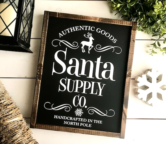 Christmas Sign | Farmhouse Sign | Santa Sign | Farmhouse Christmas | Popular Christmas Signs | Santa Supply Co | Santa Christmas Sign