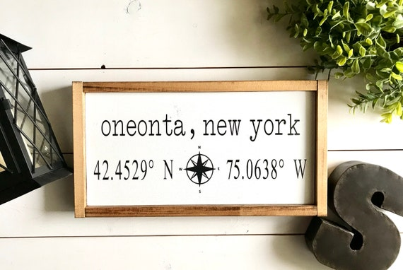 Coordinates Sign | Farmhouse Sign | Latitude Longitude Sign | Personalized Sign | GPS Sign | Fixer Upper | Modern Farmhouse | Custom Sign