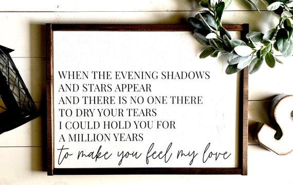 Farmhouse Sign | To Make You Feel My Love | Song Lyrics Sign | Romantic Sign | Master Bedroom Sign | Adele Lyrics Sign | Modern Farmhouse