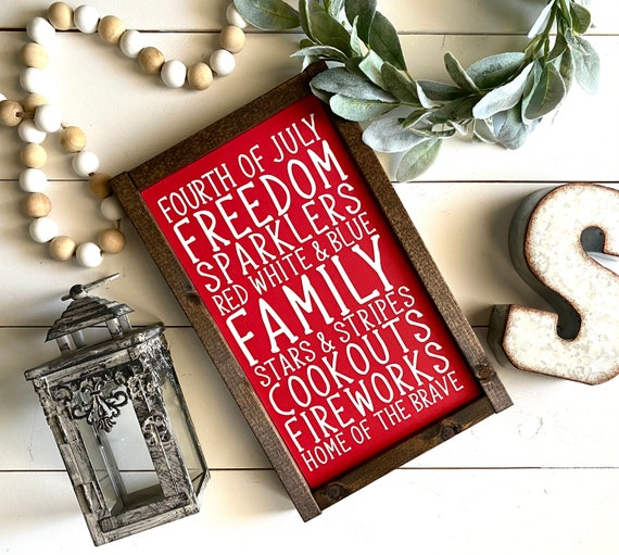 Farmhouse Sign | Fourth of July Subway Sign | Fourth of July Sign | Fourth of July Decor | Summer Sign | Independence Day | Modern Farmhouse