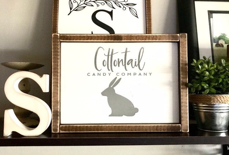 Modern Farmhouse Cottontail Candy Company Easter Decor Spring Sign Easter Sign Farmhouse Sign Bunny Fixer Upper Easter Bunny