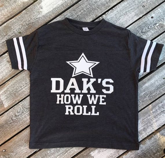 Dak's How We Roll Infant and Toddler T-Shirt | Dallas Cowboys T-Shirt | Baby Girl Dallas Cowboys | Baby Boy Dallas Cowboys