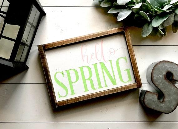 Farmhouse Sign | Hello Spring | Spring Decor | Spring Signs | Easter Decor | Spring Has Sprung | Modern Farmhouse | Fixer Upper | Spring