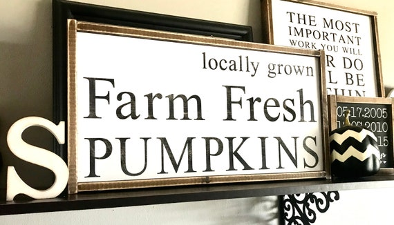 Farmhouse Sign | Farm Fresh Pumpkins | Farm Fresh Pumpkins Sign | Locally Grown Pumpkin Sign | Fall Sign | Pumpkin Sign | Fixer Upper