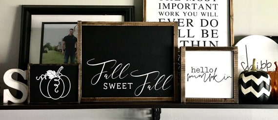 Farmhouse Sign BUNDLE | Fall Sign Bundle | Fall Sweet Fall | Pumpkin Sign | Hello Pumpkin | Fall Sign Set | Fixer Upper | Modern Farmhouse