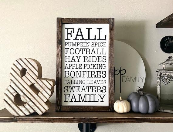 Farmhouse Sign | Fall Subway Sign | Fall Words Sign | Sign With Fall Words | Fall Sign | Autumn Sign | Modern Farmhouse | Fixer Upper