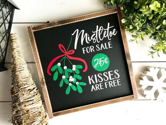 Christmas Sign   Mistletoe Sign   Farmhouse Sign   Mistletoe For Sale   Farmhouse Christmas   Colorful Christmas Sign   Popular Christmas