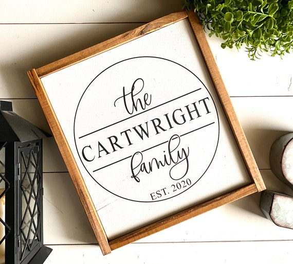 Farmhouse Sign | Family Name Sign | Custom Family Sign | Personalized Family Name Sign | Wedding Gift | Fixer Upper | Modern Farmhouse