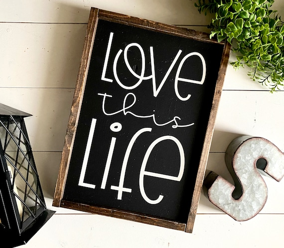Farmhouse Sign | Love This Love | Inspirational Sign | Farmhouse Decor | Black & White | Kid's Bedroom Sign | Fixer Upper | Modern Farmhouse