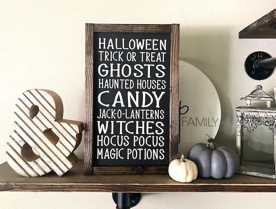 Farmhouse Sign | Halloween Subway Sign | Halloween Words Sign | Sign With Halloween Words | Halloween Sign | Modern Farmhouse | Fixer Upper