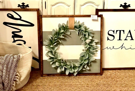 Farmhouse Sign | Shiplap Inspired Wreath Sign | Farmhouse Wreath | Shiplap Sign | Wreath Sign | Modern Farmhouse | Fixer Upper