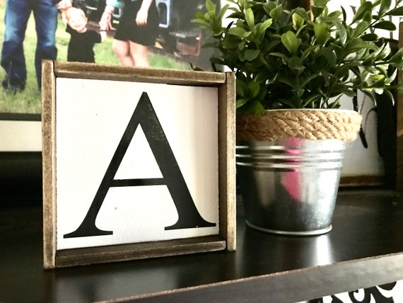 Farmhouse Sign | Framed Letter Sign | Letter Sign | Single Letter Sign | Initial Sign | Monogram Sign | Upper Case Letter Sign | Fixer Upper