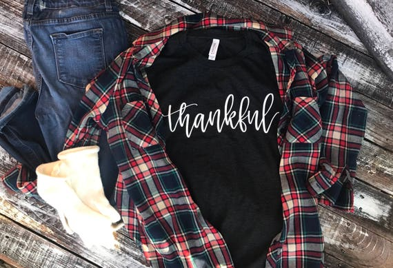 Thankful T-Shirt | Thanksgiving T-Shirt | Adult Thankful T-shirt | Unisex Thanksgiving Shirt | Thankful Tee | Thanksgiving Tee