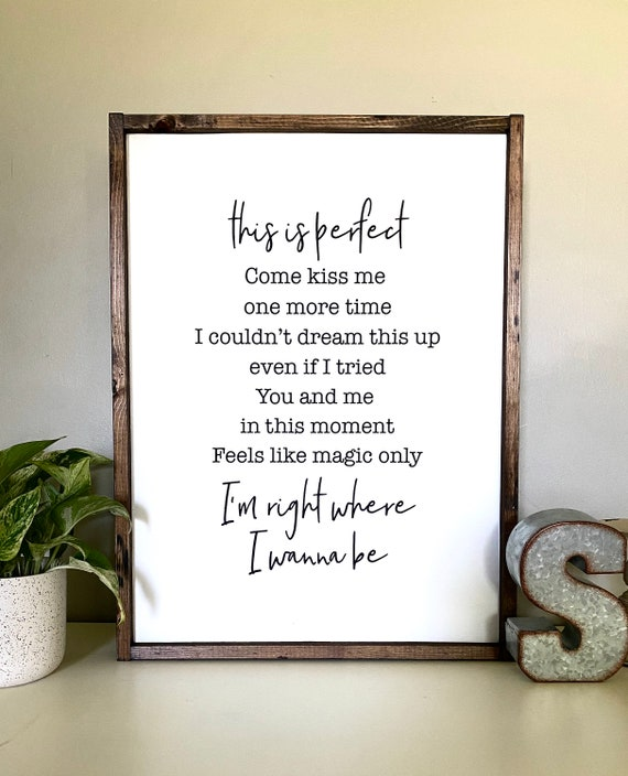 Farmhouse Sign | Heaven Lyrics Sign | Country Music Lyric Sign | Kane Brown Inspired Sign | Wedding Gift | Wedding Present | Romantic Sign