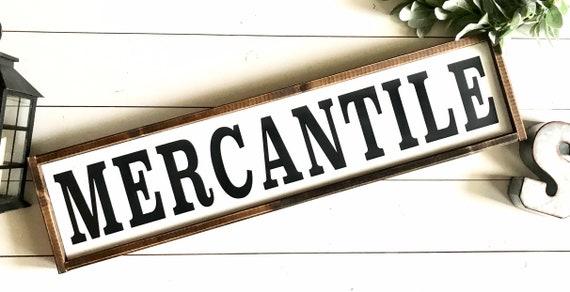 Mercantile Sign | Farmhouse Sign | Large Mercantile Sign | Framed Mercantile Sign | Modern Farmhouse | Farmhouse Kitchen | Fixer Upper