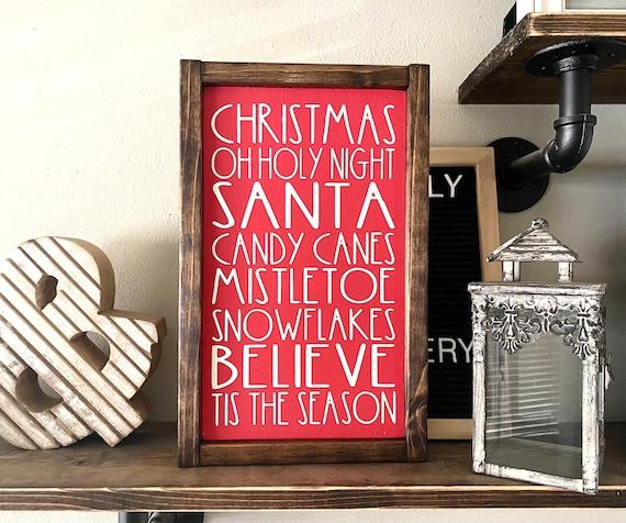 Farmhouse Sign | Christmas Sign | Christmas Subway Sign | Christmas Words Sign | Holiday Sign | Christmas Decor | Modern Farmhouse
