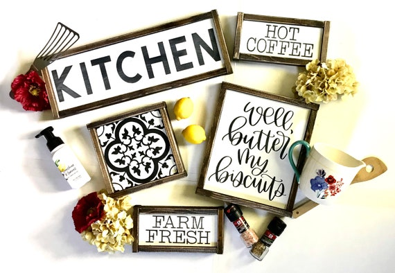 Farmhouse SIGN BUNDLE | Farmhouse Kitchen Signs | Set Of Signs | Farmhouse Kitchen Decor | Fixer Upper | Modern Farmhouse | Set Of 5 Signs