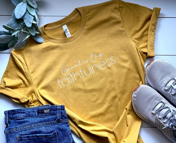 Unisex T-shirt | Great Is Thy Faithfulness | Women's T-shirt | Graphic T-shirt | Tees for Women | Inspirational T-shirts | Women's T-shirts