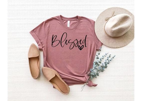 Blessed Shirt | Women's Tshirt | Women's Graphic T-Shirt | Blessed Women's Tee | Religious Women's Shirt | Graphic T-Shirt For Women