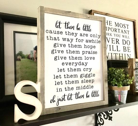 Let Them Be Little | Nursery Sign | Framed Nursery Wood Sign | Baby Boy Sign | Baby Girl Sign | Let Them Be Little Sign | Nursery Decor