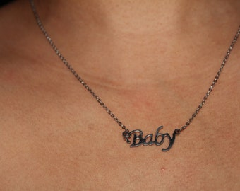 Name Plate, Custom Name Necklace, Name Plate Necklace, BDSM Choker, silver choker , DDLG, Kitten Necklace, dainty necklace