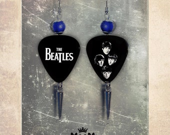 Beatles Guitar pick shaped earrings