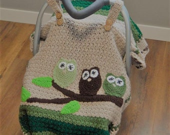 baby owl car seat cover