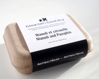 Organic Dog Soap with Niaouli and Pumpkin - Antibacterial